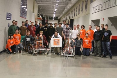 Last meeting of 2012 robotics!